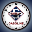 Skelly Gas Wall Clock, LED Lighted: Gas / Oil Theme