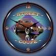 Street Coupe Wall Clock, Lighted: Larry Grossman Art
