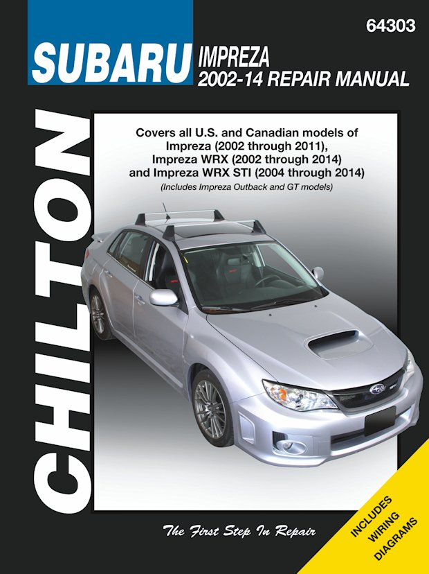 subaru impreza wrx sti service manual 2002 2014 chilton 64303 rh themotorbookstore com 2007 subaru impreza workshop manual 2007 subaru impreza factory service manual