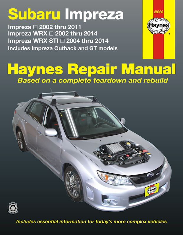 subaru impreza wrx wrx sti repair manual 2002 2014 rh themotorbookstore com subaru repair manual online subaru repair manual free