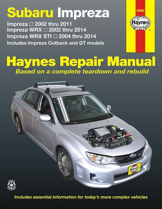subaru impreza wrx wrx sti repair manual 2002 2014 rh themotorbookstore com impreza workshop manual subaru repair manual online