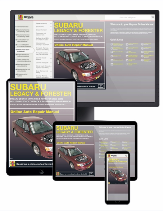 Subaru legacy & forester online service manual 2009-2016.
