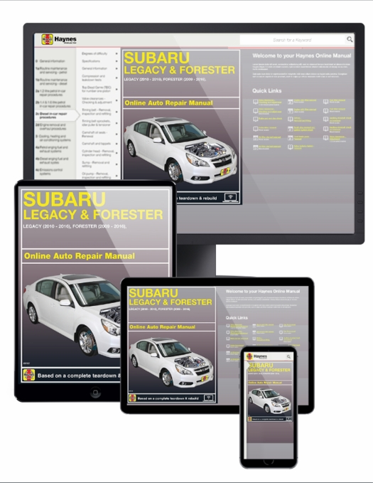 Subaru Legacy 2010-2016 Haynes USA Workshop Manual