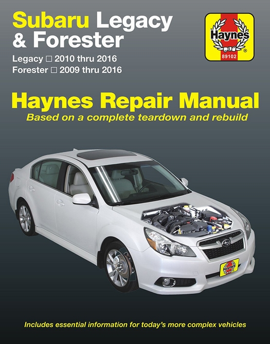 subaru legacy forester repair manual 2009 2016 haynes 89102 rh themotorbookstore com 2009 subaru forester owners manual pdf 2009 subaru forester factory service manual