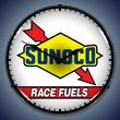 Sunoco Race Fuel Wall Clock, LED Lighted: Gas / Oil Theme