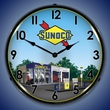 Sunoco Station 2 Wall Clock, LED Lighted: Gas / Oil Theme