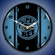 Super Bee Blue Wall Clock, LED Lighted