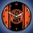 Super Bee Hemi Orange Wall Clock, LED Lighted