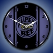 Super Bee Plum Crazy Purple Wall Clock, LED Lighted