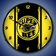 Super Bee Yellow Wall Clock, LED Lighted