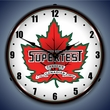 Super Test Gas Wall Clock, LED Lighted: Gas / Oil Theme