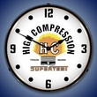 Supertest High Compression Wall Clock, LED Lighted: Parts / Service Theme