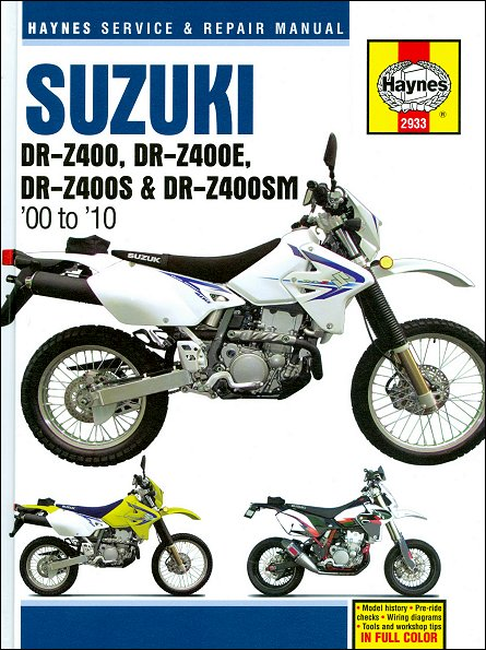 Suzuki DR-Z400 Repair Manual 2000-2010