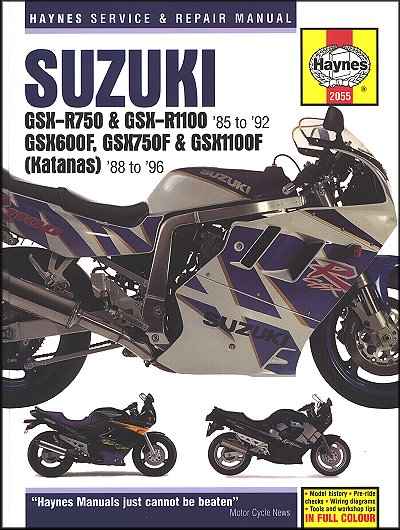 suzuki gsx600 gsx750 gsxr750 gsxr1100 repair manual 1985 1996 rh themotorbookstore com 2004 suzuki katana 600 owners manual Suzuki Katana 600 Service Manual