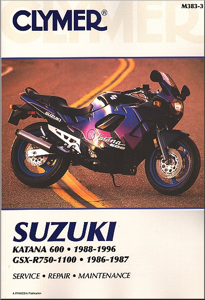 suzuki katana 600 gsxr750 gsxr1100 repair manual 1986 1996 rh themotorbookstore com Suzuki Katana 600 Service Manual 2004 suzuki katana 600 owners manual