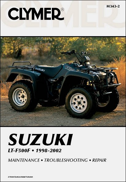 suzuki lt f500f quadrunner 500 atv repair manual 1998 2002 rh themotorbookstore com 98 suzuki quadrunner 500 service manual 2000 suzuki quadrunner 500 service manual