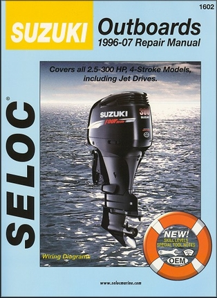 Suzuki 2 5hp to 300hp 4 stroke outboard repair manual 1996 for Suzuki outboard motor repair