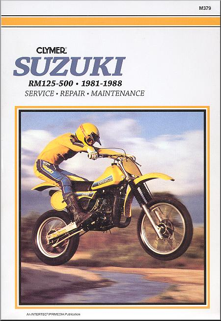 suzuki rm125 rm250 rm465 rm500 repair manual 1981 1988 clymer rh themotorbookstore com 2002 Suzuki 250 Motorcycle 1980 Suzuki GS 250 T Repair Manual