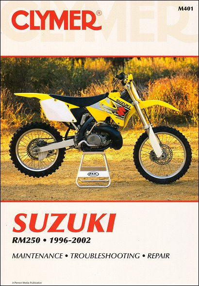 suzuki rm250 repair service manual 1996 2002 clymer m401 rh themotorbookstore com 1999 suzuki rm250 service manual 1999 suzuki rm 250 repair manual