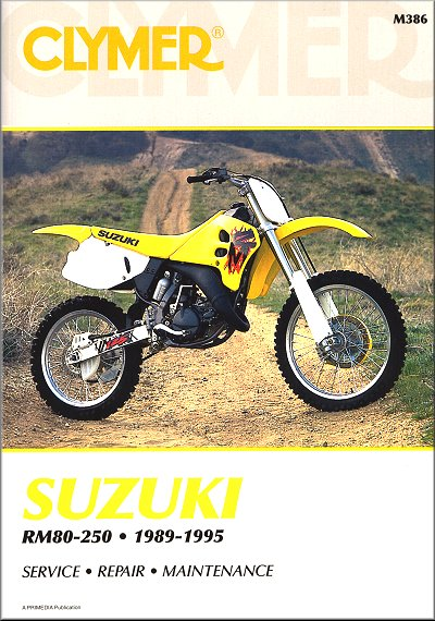 suzuki rm80 rm125 rm250 repair manual 1989 1995 rh themotorbookstore com suzuki rmz 250 service manual 2014 2008 suzuki rmz 250 service manual download