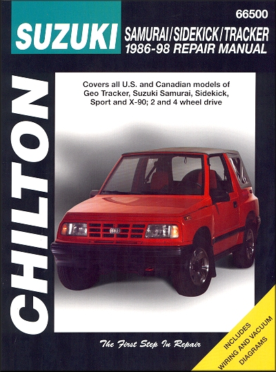 suzuki samurai sidekick geo tracker repair manual 1986 1998 rh themotorbookstore com Chevy Tracker Vehicles manual chevrolet tracker 1998