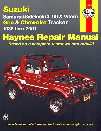 Suzuki Samurai, Sidekick, X-90, Vitara Repair Manual 1986-2001