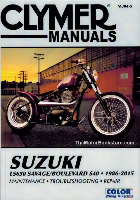 suzuki savage repair manual by clymer 1986 2015 ls650 boulevard s40 rh themotorbookstore com Suzuki Repair Manuals Suzuki Motorcycle Wiring Diagrams