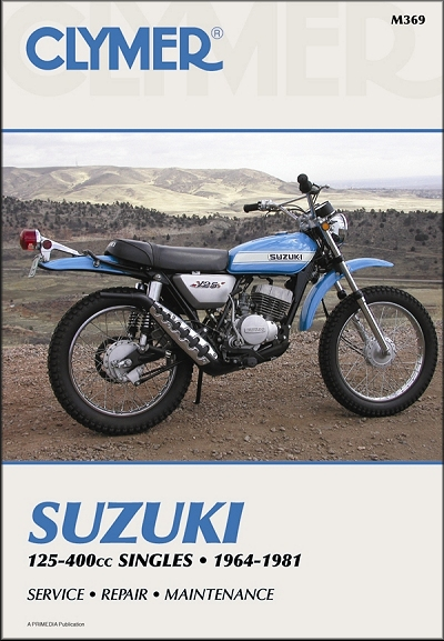 Suzuki 125-400 Singles Repair Manual 1964-1981
