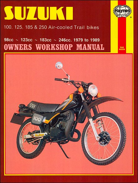 1974 suzuki ts185 motorcycle owners manual.