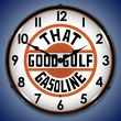 That Good Gulf Gasoline Wall Clock, Lighted