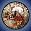 The Last Shot 19th Hole  Wall Clock, LED Lighted: Sports