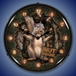 The Nut House Wall Clock, Lighted