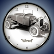 Tim Odell Wired Wall Clock, Lighted