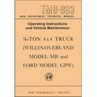 TM9-803 War Department Technical Manual Willys-Overland MB, Ford GPW