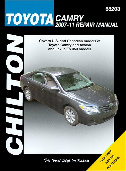 toyota camry avalon lexus es350 repair manual 2007 2011 chilton rh themotorbookstore com 2007 avalon service manual 2007 fleetwood avalon owners manual
