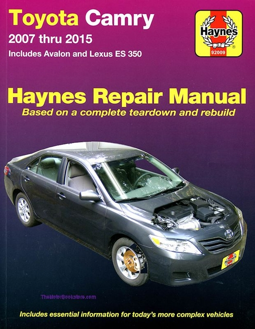 toyota camry avalon lexus es350 repair manual 2007 2015 haynes rh themotorbookstore com 2000 Toyota Avalon Brown Toyota Avalon Interior