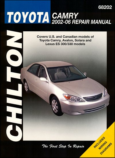 lexus es300 330 toyota camry avalon solara repair manual 2002 2006 rh themotorbookstore com 2006 camry repair manual pdf 2006 toyota camry repair manual pdf free download