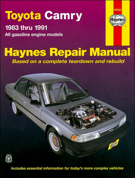 toyota camry repair and service manual 1983 1991 haynes 92005 rh themotorbookstore com 1991 toyota camry service manual 1991 toyota camry factory service manual