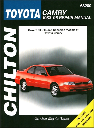 toyota camry repair workshop manual 1983 1996 chilton 68200 rh themotorbookstore com 2008 Toyota Camry Manual Toyota Camry Crash
