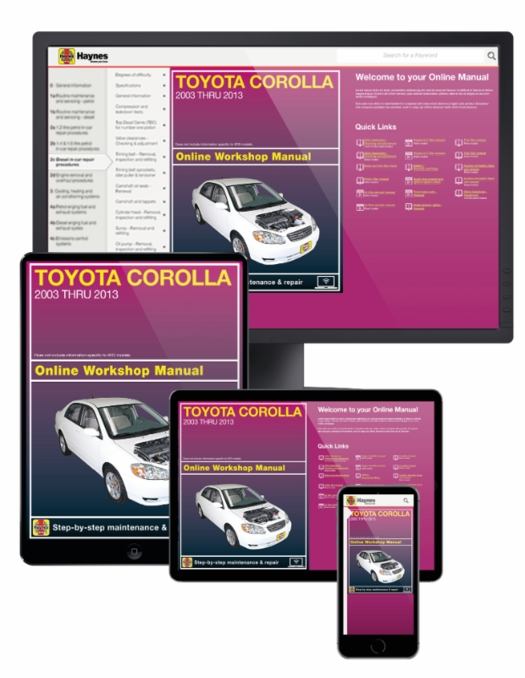 Toyota Corolla Online Service Manual, 2002-2013
