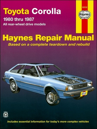 toyota corolla repair and service manual 1980 1987. Black Bedroom Furniture Sets. Home Design Ideas