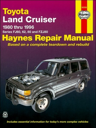 Toyota Land Cruiser FJ60, 62, 80, FZJ80  Repair Manual 1980-1996