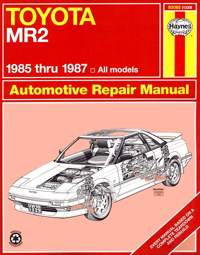toyota mr2 repair service manual by haynes 1985 1987 rh themotorbookstore com 1985 Toyota MR2 1994 Toyota MR2