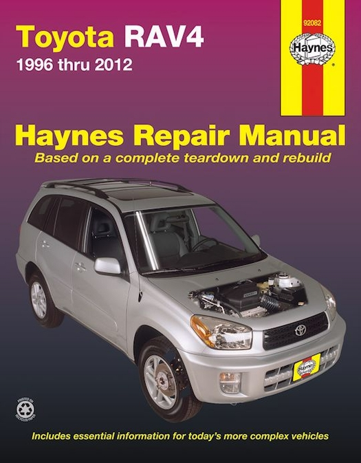 toyota rav4 haynes repair manual 1996 2012 free shipping rh themotorbookstore com Toyota Tis Website toyota vehicle repair manual