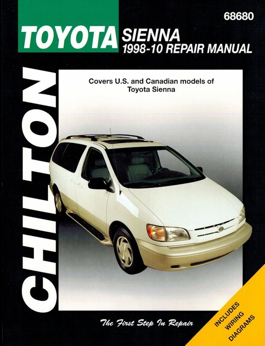 toyota sienna minivan repair manual 1998 2010 chilton 68680 rh themotorbookstore com 2006 toyota sienna repair manual pdf 2006 toyota sienna shop manual