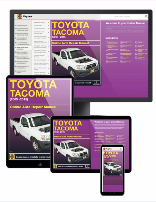toyota tacoma online service manual 2005 2015 rh themotorbookstore com 2005 toyota tacoma prerunner service manual 2005 Toyota Tacoma Wiring Diagram