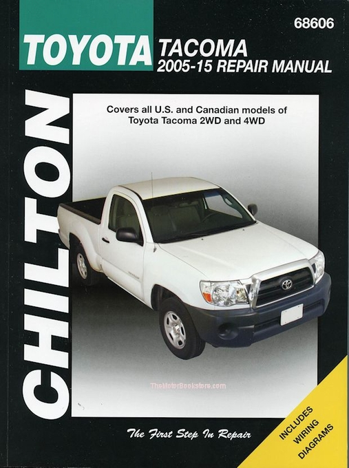 toyota tacoma repair manual 2005 2015 2wd 4wd chilton rh themotorbookstore com toyota tacoma repair manual download toyota tacoma repair manual download