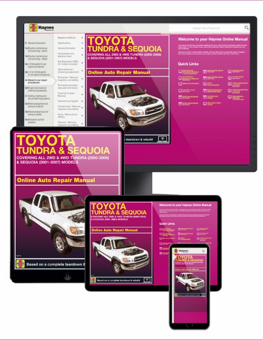 toyota tundra 00 06 sequoia 01 07 online service manual rh themotorbookstore com 2006 toyota tundra service manual 06 tundra service manual