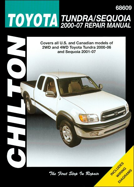 toyota tundra toyota sequoia repair manual 2000 2007 chilton rh themotorbookstore com 2007 toyota tundra repair manual 2007 toyota tundra manual transmission