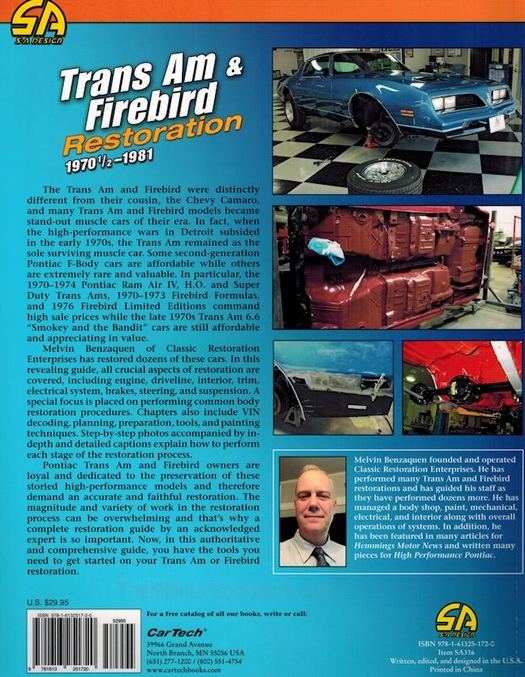 Trans Am & Firebird Restoration 1970 1/2 - 1981